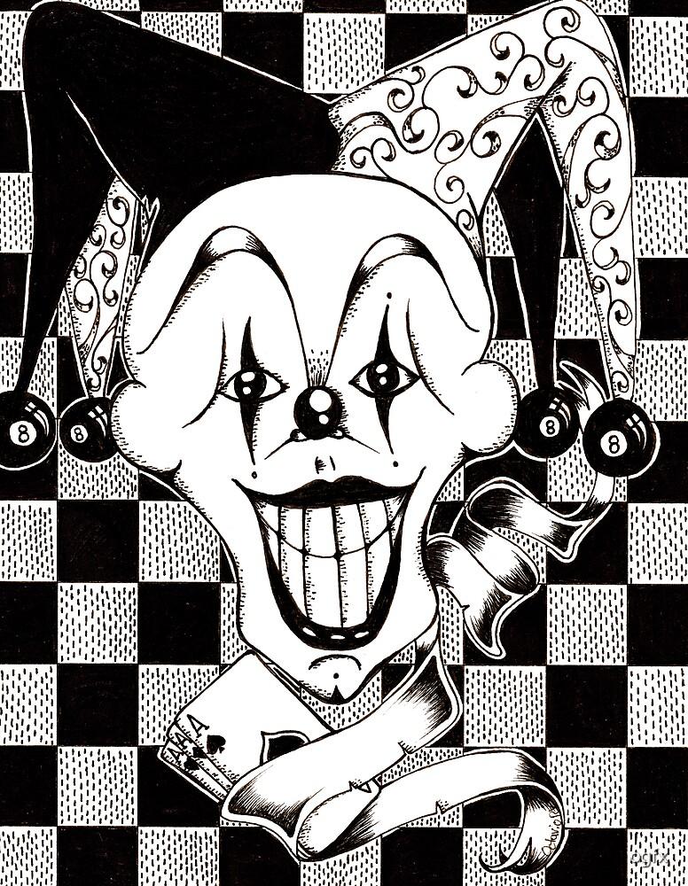 Jester The Joker Clown by Octavio Velazquez