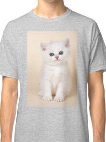 White British kitten with big eyes Classic T-Shirt