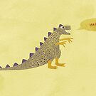 Not a very scary dinosaur by Nic Squirrell