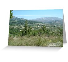 FERTILE INLAND VALLEY, RHODES Greeting Card