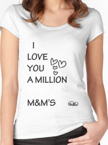 I Love You a Million Purple M&M's Women's Fitted Scoop T-Shirt