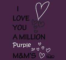 I Love You a Million Purple M&M's Womens Fitted T-Shirt