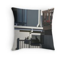 Verticals in 3D Throw Pillow