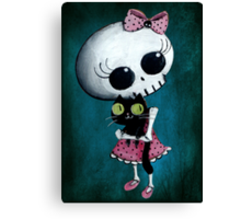 Little miss Death Canvas Print