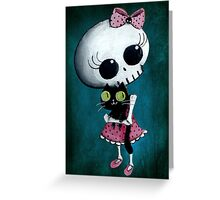 Little miss Death Greeting Card
