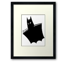It's all in the cape! Framed Print