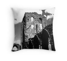 Norman Ruin - Staffordshire, England Throw Pillow