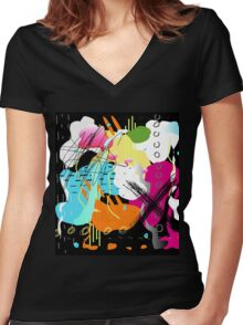 ~~ Narf! :^) Women's Fitted V-Neck T-Shirt
