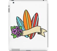 Hawaiian Surfboard Illustration iPad Case/Skin