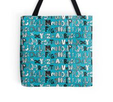 ABC blue Tote Bag