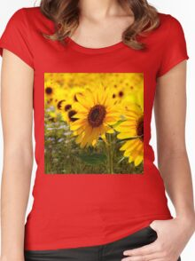 Sunny delight  Women's Fitted Scoop T-Shirt