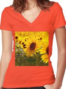 Sunny delight  Women's Fitted V-Neck T-Shirt
