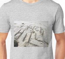 writing in the Sand Unisex T-Shirt