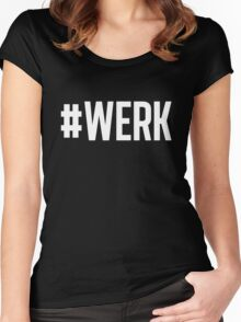 WERK black Women's Fitted Scoop T-Shirt