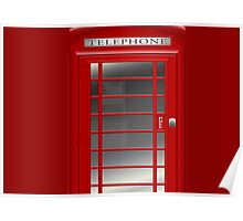 London Red Phone Booth Box  Poster