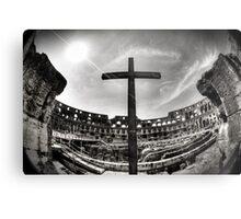 Colosseum Cross Metal Print