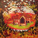 'Priory In Autumn' by Martin Williamson (©cobbybrook)
