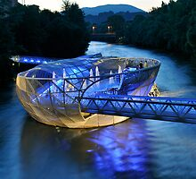 Futuristic Murinsel (Mur Island) in Graz, Austria by Petr Svarc
