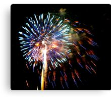 July 4th Fireworks Canvas Print