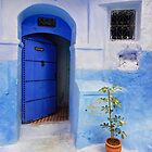 Street Scene, Chefchaouen (Morocco)  by Petr Svarc