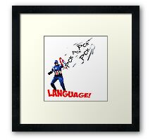 Captain America - Watch your Language Framed Print