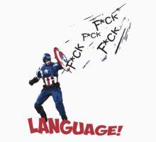 Captain America - Watch your Language T-Shirt