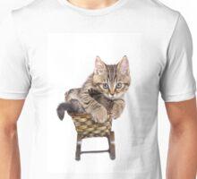 Funny Siberian striped kitten Unisex T-Shirt