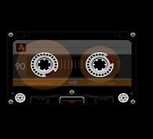 Retro Music Cassette Tape by CroDesign