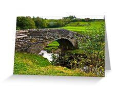 Packhorse Bridge - River Swale Greeting Card