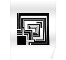 Textile Block Black Architecture Tshirt Poster
