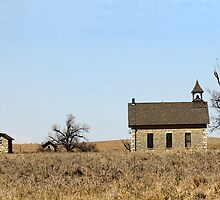 Limestone Bichet School, Kansas by Catherine Sherman