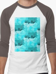 An abstract pattern inspired from the waves of the ocean Men's Baseball ¾ T-Shirt