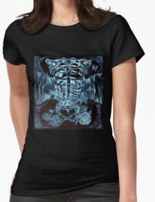x-ray chest of butterflies Womens Fitted T-Shirt