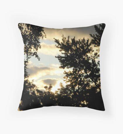 Sunrise in the Suburbs Throw Pillow