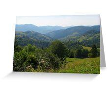Majestic Carpathian Mountains Greeting Card