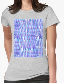 Purple Dashes Womens Fitted T-Shirt