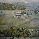 Farm Across Valley by Dan Budde