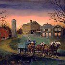 Four Horse Hitch by Dan Budde