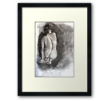 Charcoal Nude Framed Print