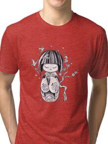 Kokeshi  Geisha doll Tri-blend T-Shirt