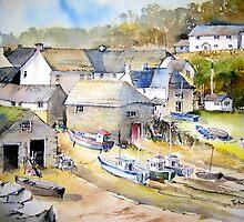 Cadgwith Cornwall by artbyrachel