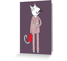 The Cat's Pajamas Greeting Card