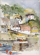 Mevagissey, Cornwall by artbyrachel