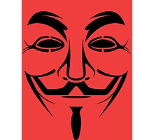 Guy Fawkes mask Photographic Print