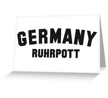 GERMANY RUHRPOTT Greeting Card