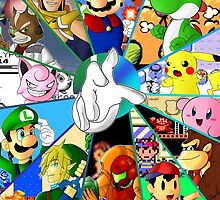 Super Smash Bros. OG Poster by Ari-Glitch