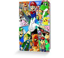 Super Smash Bros. OG Poster Greeting Card