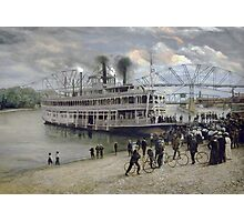 Mississippi Steamboat Landing Photographic Print