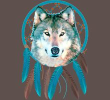 Spirit Wolf Dream Catcher Mens V-Neck T-Shirt