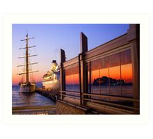 Maritime Sunset Reflections Art Print